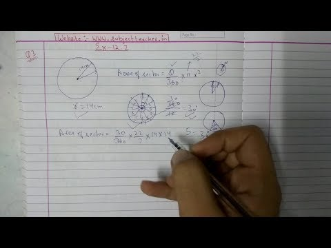 Chapter 12 Exercise 12.2 (Q3 Q4) Area Related To Circles || Maths class 10 NCERT