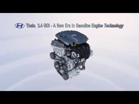 Hyundai new theta engine with gdi
