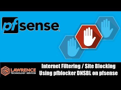 Tutorial:Internet Filtering / Site Blocking Using pfblocker DNSBL on pfsense