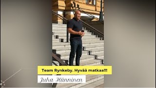 Team Rynkeby, turvallista matkaa toivottaa Juha Hänninen