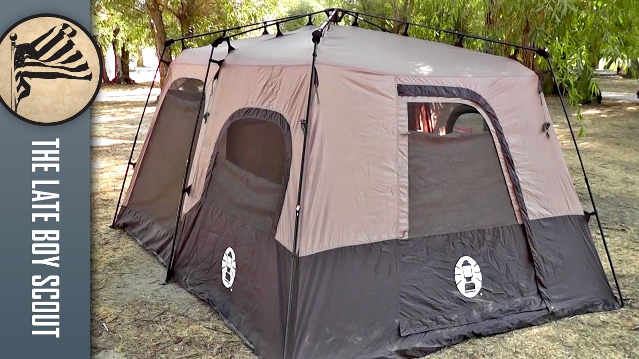 Coleman 8 Person Instant Tent Review (14'x10') - YouTube