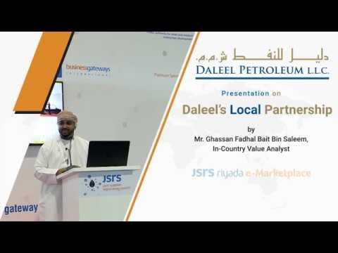 Daleel Petroleum Presentation at JSRS eMarketplace