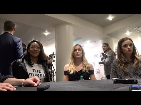 CWTV  from The Flash & LoT DCinDC2018  Candice Patton, Caity Lotz, & Danielle Panabaker