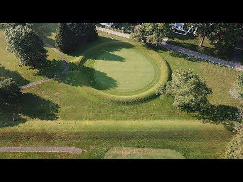 Newark Earthworks by drone