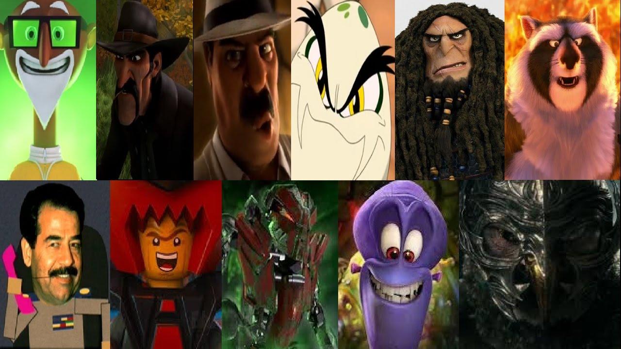 Defeat of my Favorite Animated Non Disney movie Villains