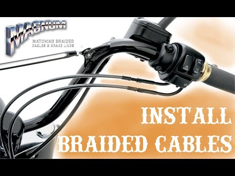 You want Braided Cables and Brake Lines on your Harley??  Start here!!!!