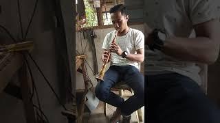 Serunai Kelantan. Tiupan buka tabuh wayang kulit. Sambil2 test serunai baru siap. Bminat pm ambe.