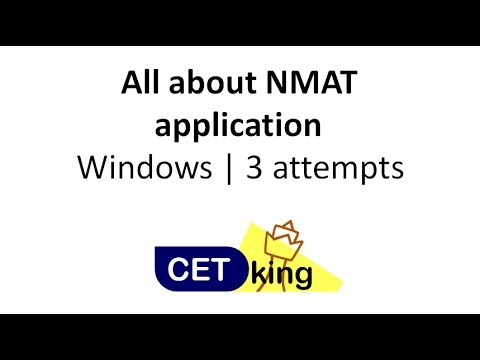 NMAT application process explained. Windows, Attempts and Rescheduling