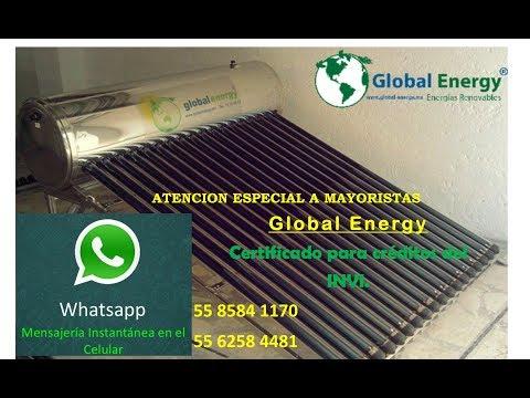 Conoce el calentador solar para INVI. Global Energy. 2017
