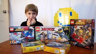 Lego Birthday Toy Haul - Captain America 76076, Ninjago Manta Ray 70609, Iron Man 76077, Superheroes
