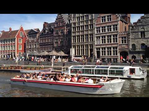 Boat trips on Ghent Belgium