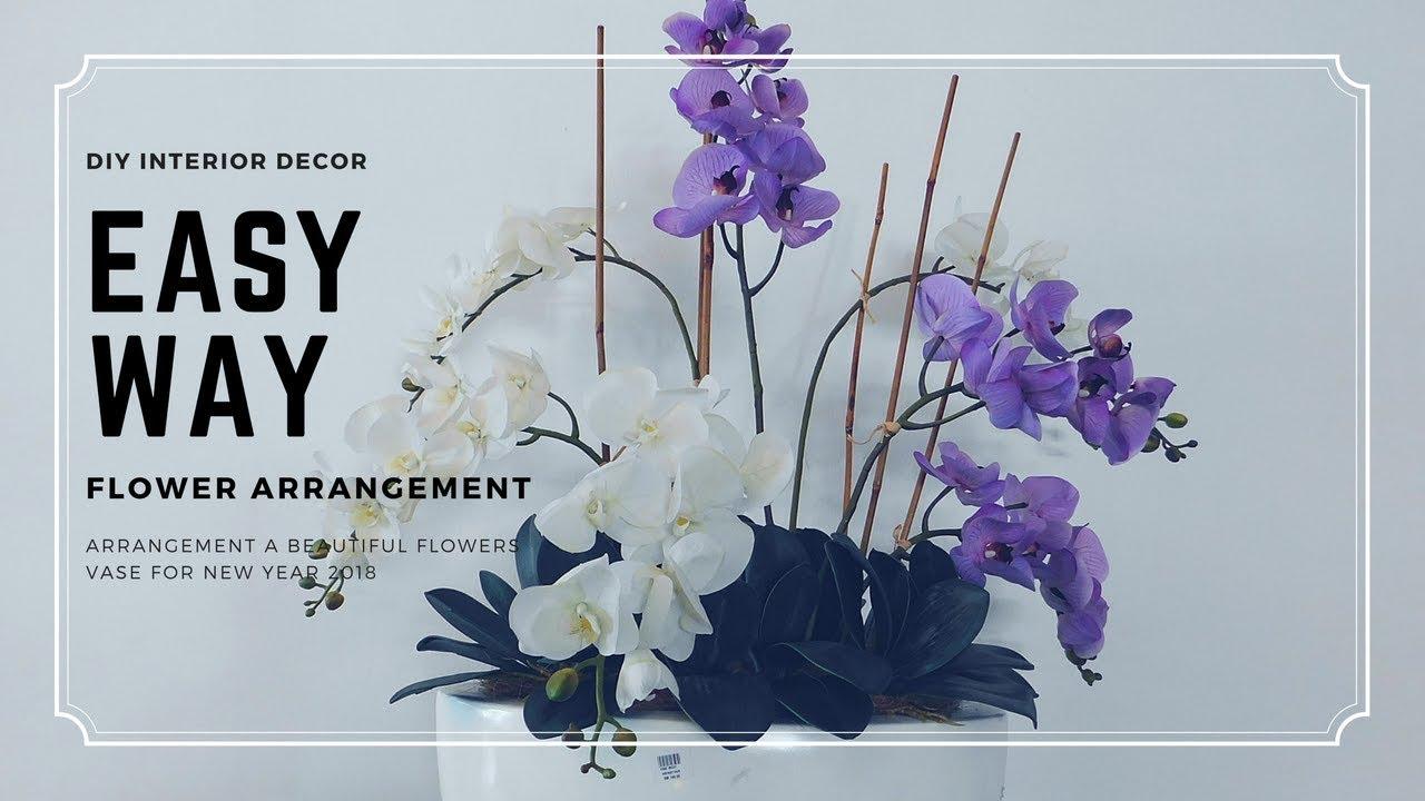 How To Arrange Simple Flowers In Vase Fake Flowers Arrangement