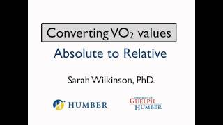 How to convert absolute to relative VO2 values