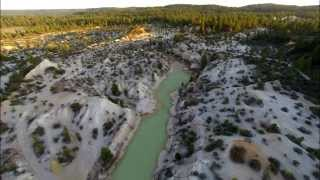 Aerial shots of Jackass Flats - Nevada County, California