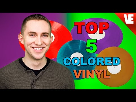 5 COLORED VINYL RECORDS I LOVE