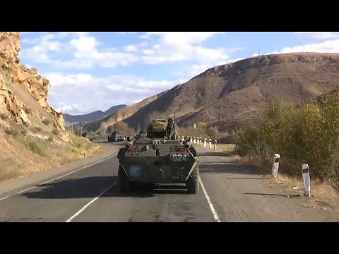 Нагорный Карабах: российские миротворцы вошли в Степанакерт