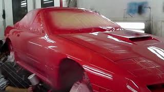 自動車板金塗装 RX-7 will 全塗装作業動画 thumbnail