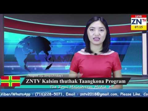ZNTV Weekly News Taangkona # 37, August 23, 2019 (Friday)
