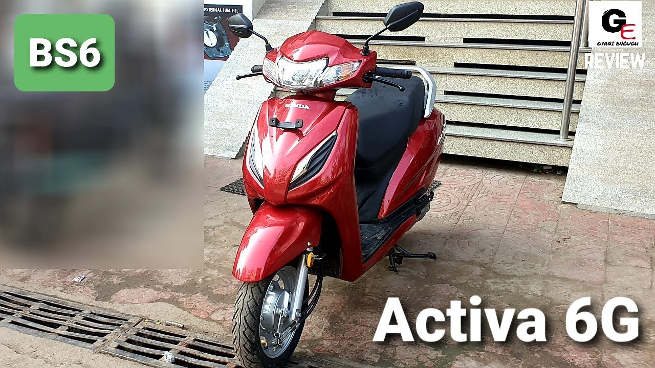 2020 Honda Activa 6g Dlx Bs6 Detailed Review Features Specs Price Youtube