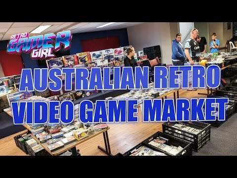 Retro Game Market Brisbane, Australia HUGE SELECTION OF GAMES | Retro Gamer Girl
