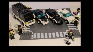 Lego MOC- police cars: SWAT van, cars, and more!