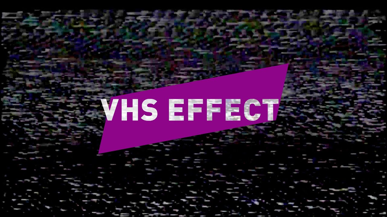 NEW VHS EFFECT VIDEO OVERLAY // Free download link