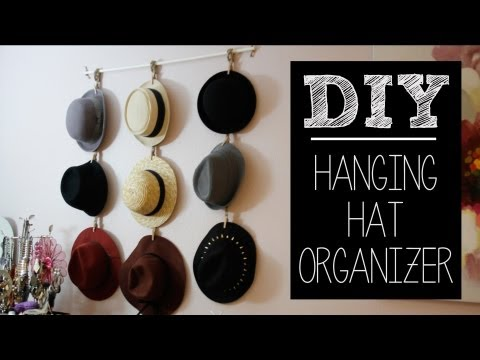 DIY Hat Hanger/Organizer (Easy) | beautybitten