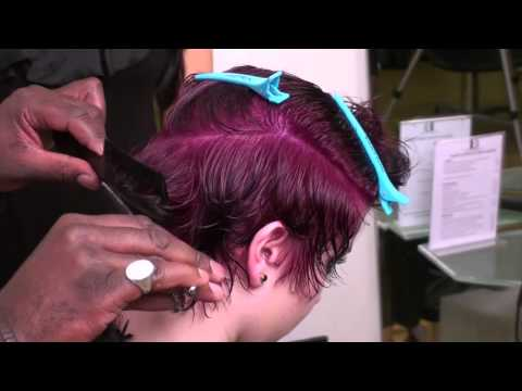 Funky Hairstyle for Short Hair - Afro-Caribbean Hairstyle