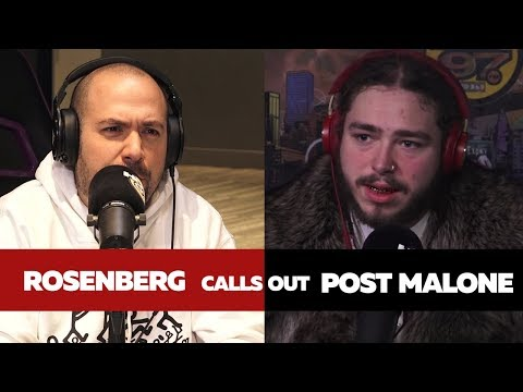 Rosenberg Calls Out Post Malone