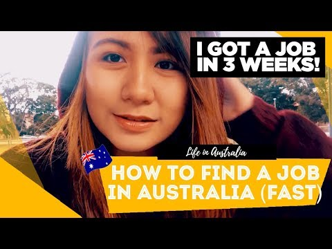 How To Find A Job In Australia FAST