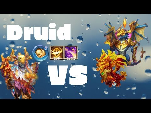 Druid | 13/13 | 9/9 Survival | 9/9 Sacred Light | Vs Top12 | Castle Clash