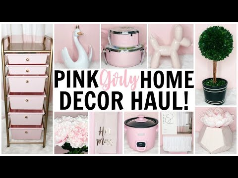 GIRLY & PINK HOME DECOR HAUL! ♡ HomeGoods, TJ Maxx, Marshalls, Target & Hobby Lobby