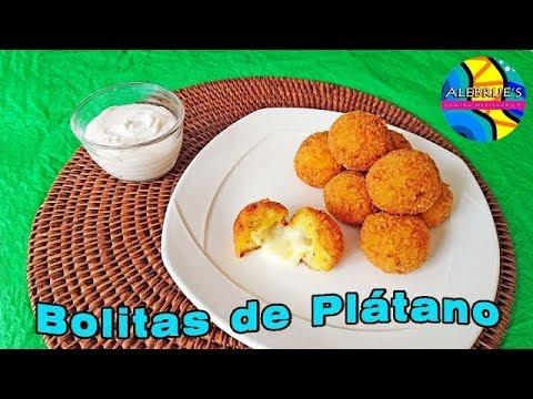 💛 BOLITAS DE PLATANO RELLENAS DE QUESO 😋😋, banana bites, #postreplatano, #bananadessert