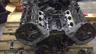 Надежный автомобиль Audi Q7 3.0 TFSI: ляпнутый блок, вырваный шатун.