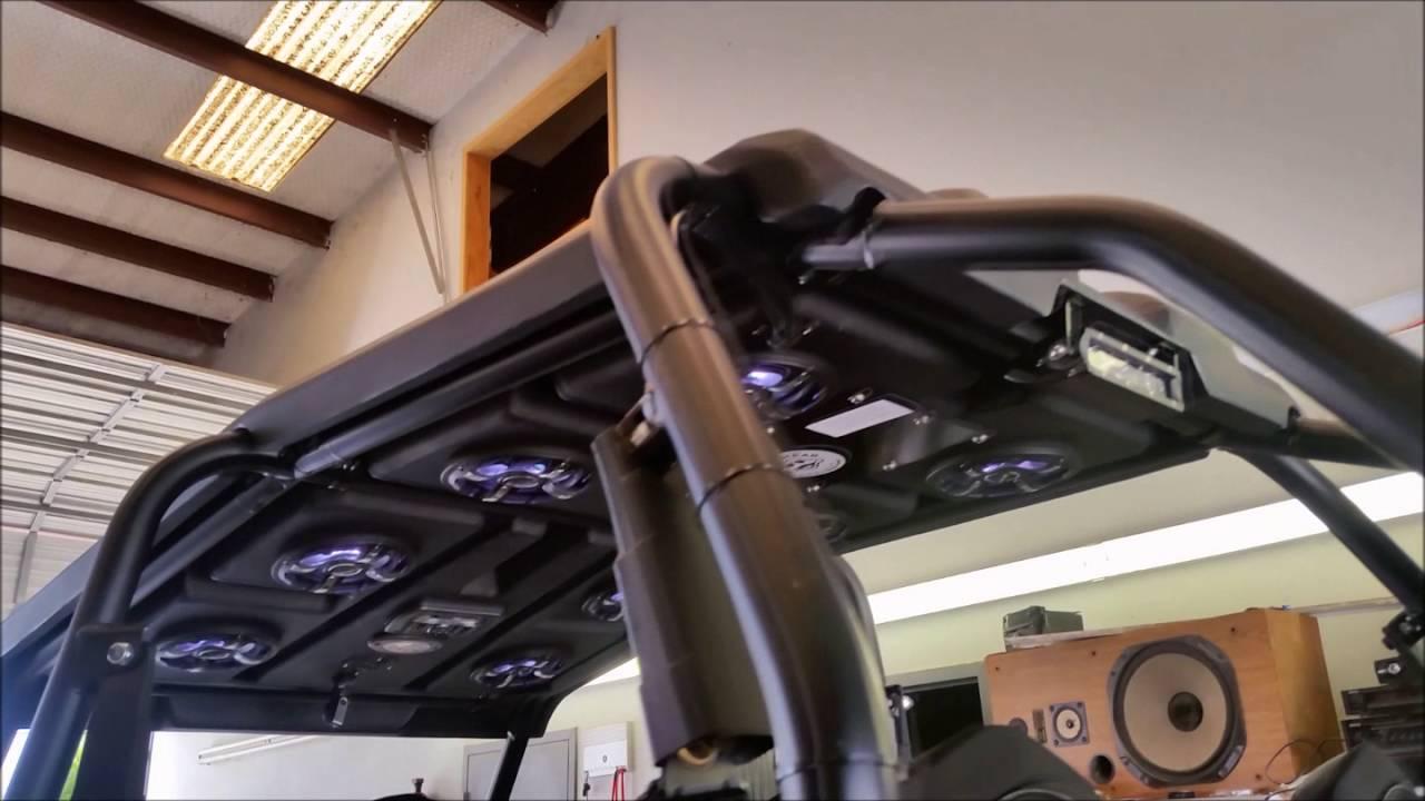 Polaris Razor Rzr 1000 Xp 4 Seat Stereo Roof Youtube