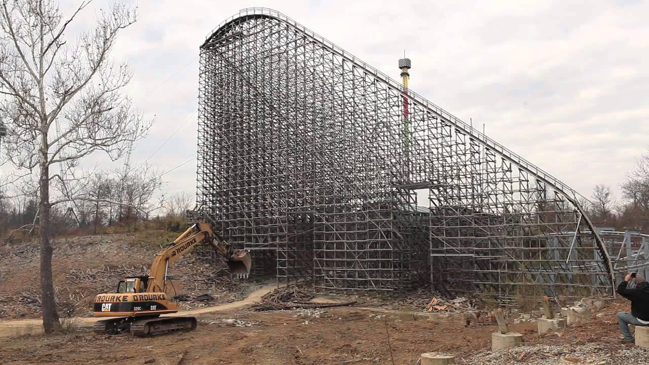Roller Coaster Demolition : Kings island son of beast roller coaster demolition youtube