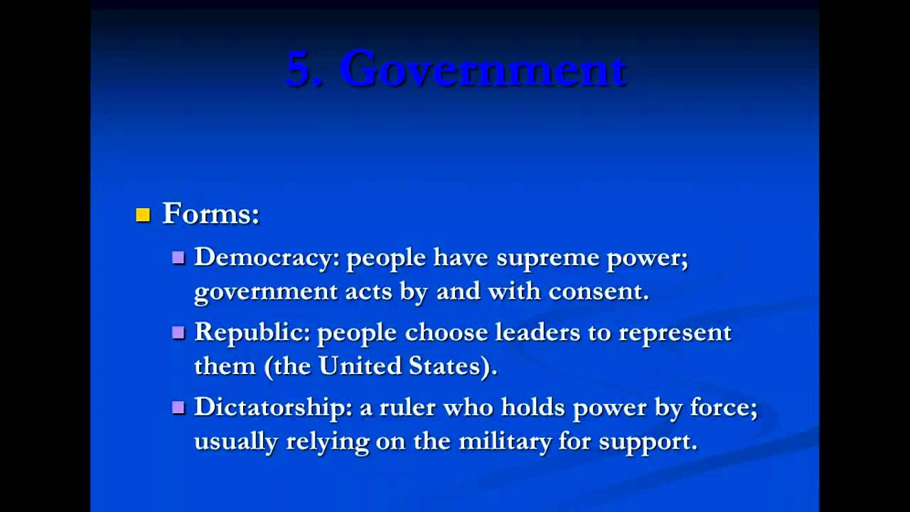 the different elements of an ideal government In his most celebrated book the republic, plato gives the theory of an ideal state as far as a state is concerned,plato gives ideas about how to build an ideal.