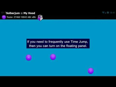 Floating Time Jump Panel - GameGuardian