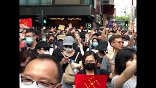 香港民众9月15日再次走上街头举行抗议活动