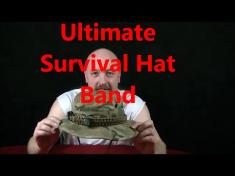 Paracord Survival Hat Band By Ecco Stoves compass fire Tilley Boonie steel  starter p38 Parachord 5d50abb66a4