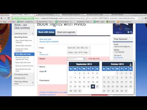 How to Book British Airways Award Flights