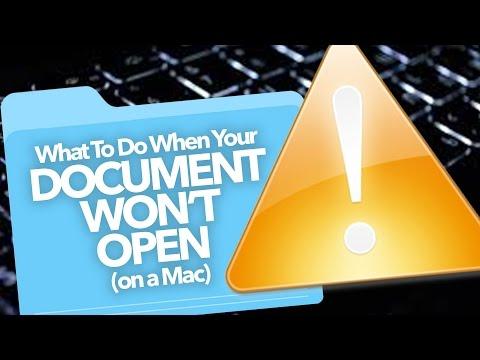 Documents Won't Open: FIX (Mac)