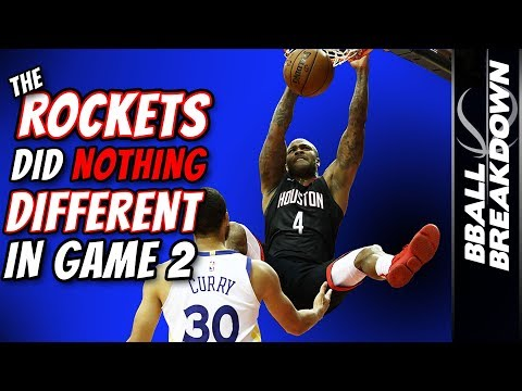 The Rockets Did (Almost) NOTHING Different In Game 2