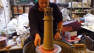 Making a Pottery Lighthouse on the Wheel Video