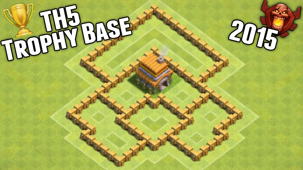 clash of clans town hall 5 trophy base 2015 youtube