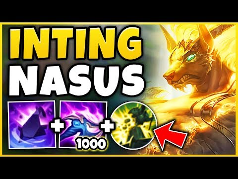 *NEW* INTING NASUS STRATEGY! 1 SHOT TOWERS + UNKILLABLE!!! (INTING SION 2.0) - League Of Legends