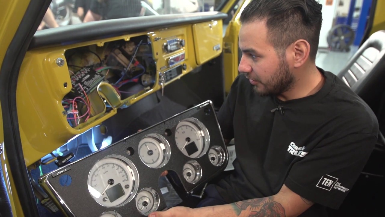 Week To Wicked C10 Dakota Digital Hdx Series Gauge Install Youtube 1967 Chevelle Ss Wiring Harness