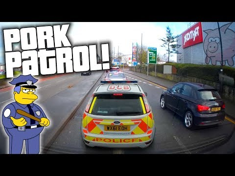 📸UK Dash Cam | SMASHED MIRRORS AND POLICE FUN 👮 | IDIOT DRIVERS #15 [Truck Cam]