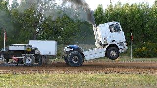 DAF DTK Madness Truck Pulling The Sledge at Pulling Event in Lyngså | Truck Pulling Denmark