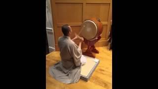 Drumming at Nichiren Shoshu Myosenji  Buddhist Temple